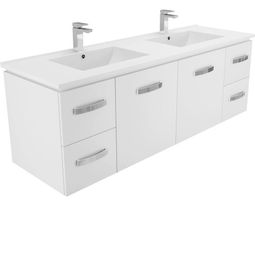 DOLCE 1500, double bowl + Universal Wall-hung