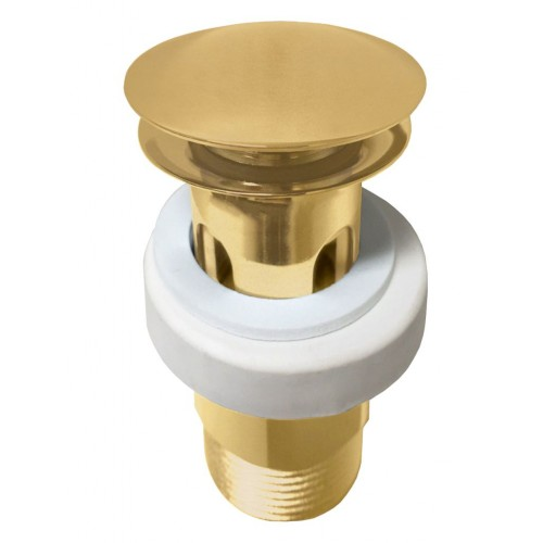 JamieJ Mushroom Pop Up Plug & Waste Brushed Gold
