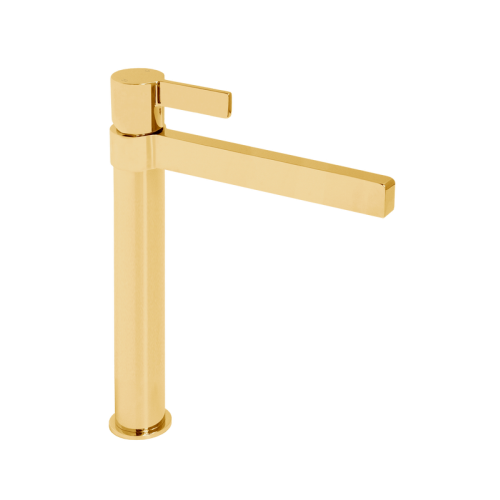 Jamie J Martini Tower Basin Mixer Polished Gold