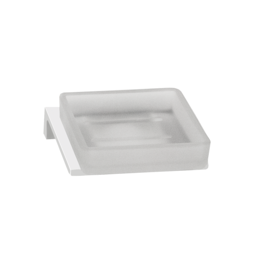 TIME SQUARE FROSTED GLASS SOAP DISH