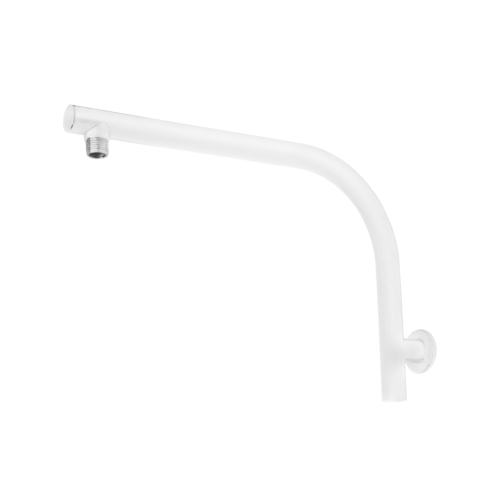 JamieJ Twilight High Rise Shower Arm/Matte White