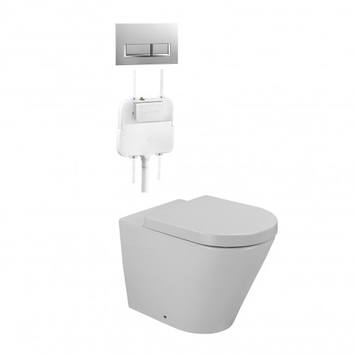 Gallaria Tropical Qubo Wall Faced Inwall Suite/White Button Set