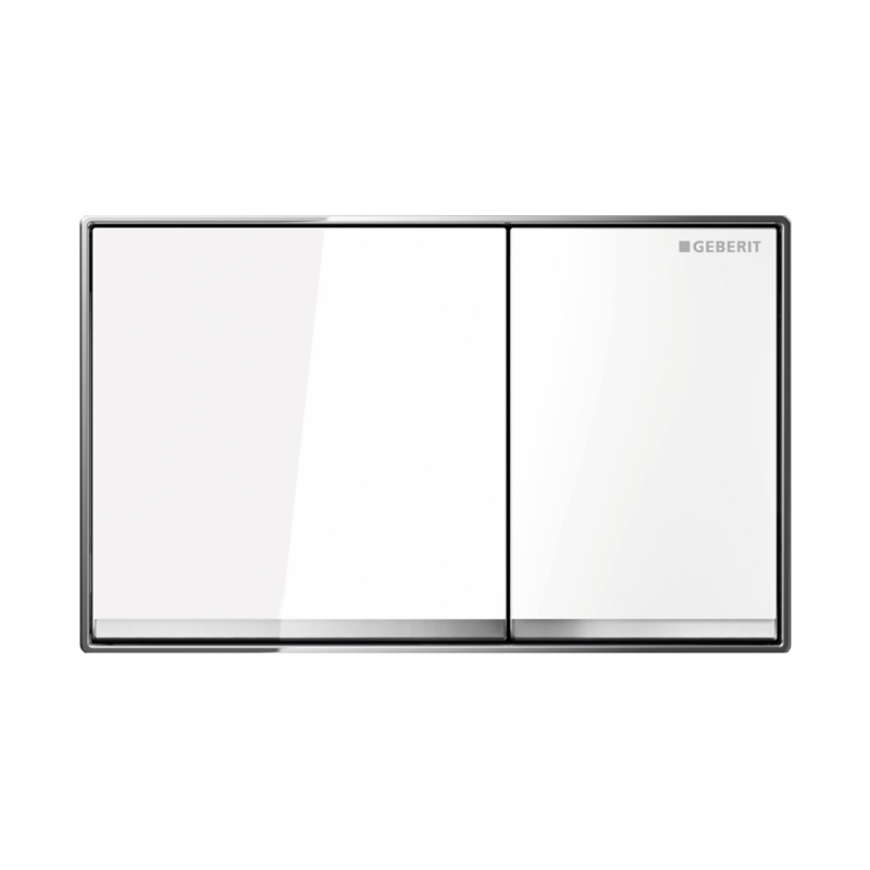 geberit sigma 60 dual flush plate white glass. Black Bedroom Furniture Sets. Home Design Ideas
