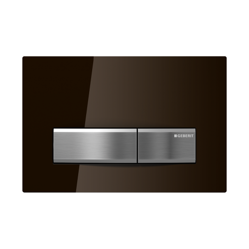 Geberit Sigma 50 Umbra Brown Glass Flush Plate
