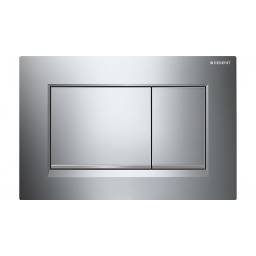 Geberit Sigma 30 Dual Flush Plate Chrome/Matte Trim