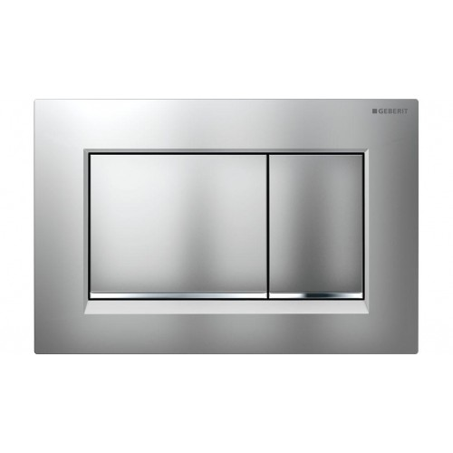 Geberit Sigma 30 Dual Flush Matte Plate /Chrome Trim