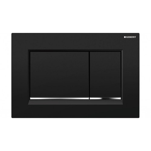 Geberit Sigma 30 Dual Flush Plate black/Chrome Trim