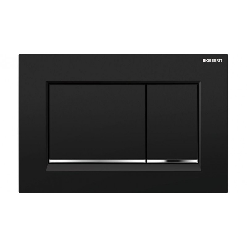 Geberit sigma 30 dual flush plate black chrome trim for Best brand of paint for kitchen cabinets with peace sign canvas wall art