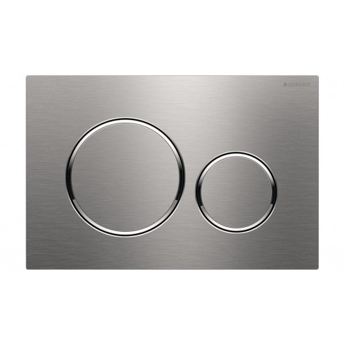 Geberit Sigma 20 Dual Flush Plate Brushed Stainless Steel/Chrome Trim