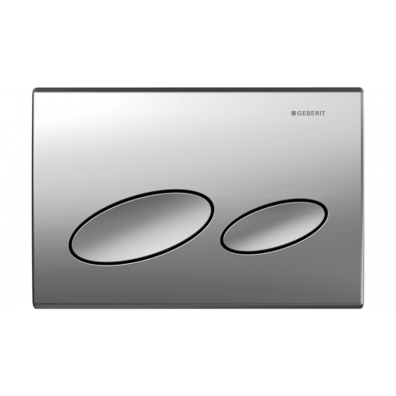 Geberit Kappa 20 Dual Flush Plate/Matte Chrome