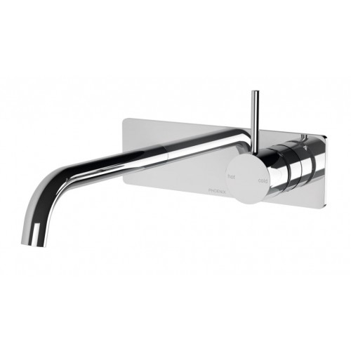 Phoenix Vivid Slimline Up Wall Basin/Bath Mixer Set