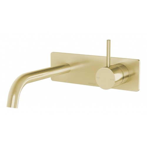 Phoenix Vivid Slimline Up Wall Basin/Bath Mixer Set/Brushed Gold