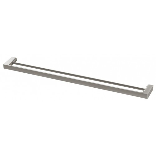 Phoenix Gloss 800mm Double Towel Rail/Brushed Nickel