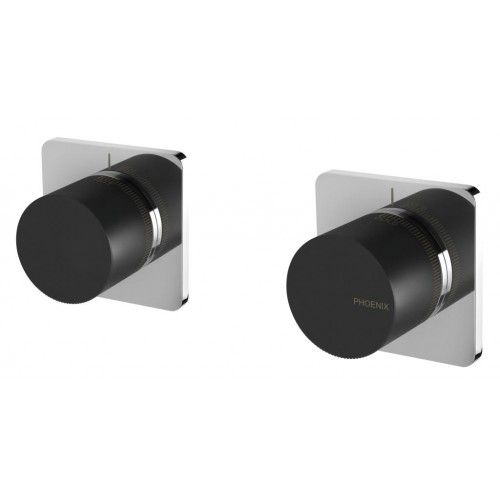 Phoenix Wall Top Assemblies/Black Chrome
