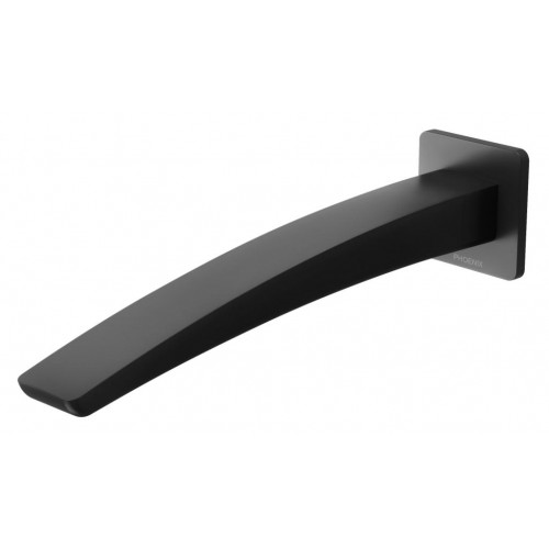 Phoenix Rush Wall Basin Outlet 230mm/Matte Black