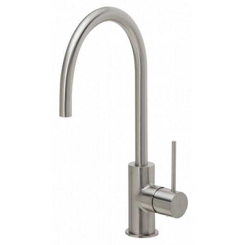 Phoenix Vivid Slimline Side Lever Sink Mixer 220mm Goose Neck/Brushed Nickel