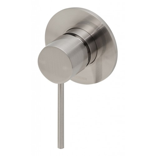 Phoenix Vivid Slimline Shower/Wall Mixer/Brushed Nickel