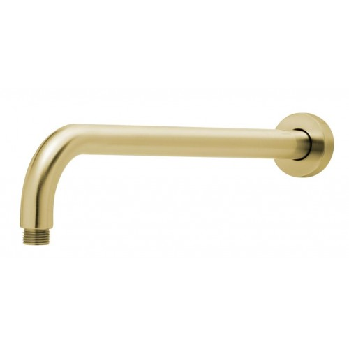 Phoenix Vivid 400mm Wall Round Shower Arm/Brushed Gold