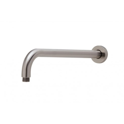 Phoenix Vivid 400mm Wall Round Shower Arm/Brushed Nickel