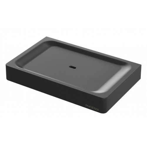 Phoenix Gloss Soap Dish/Matte Black