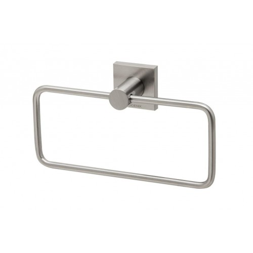 Phoenix Radii Hand Towel Holder Square Plate Gun Brushed Nickel