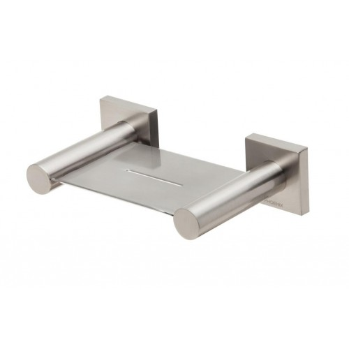 Phoenix Radii Soap Dish/Brushed Nickel