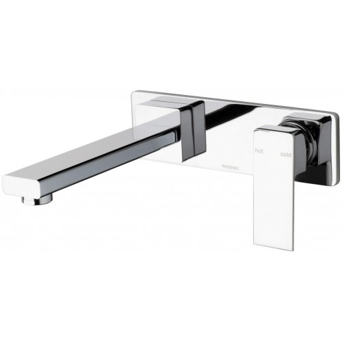 Phoenix Radii 180 Wall Basin and Bath Mixer