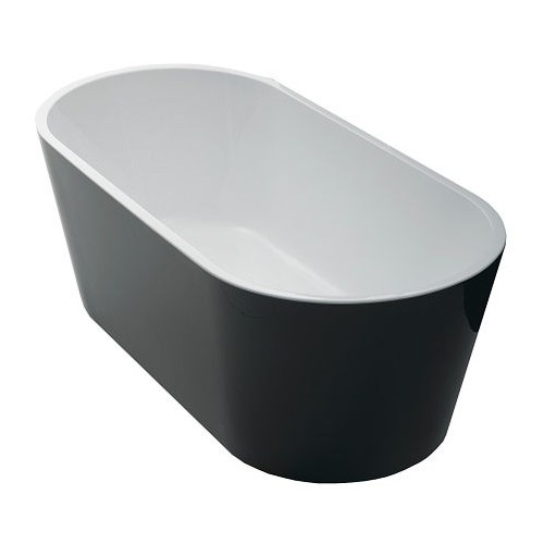 Akemi Freestanding Bath 1700mm - Black/White