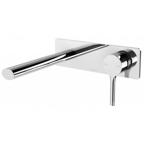 Phoenix Vivid Slimline Oval Wall Basin Mixer Set 175mm