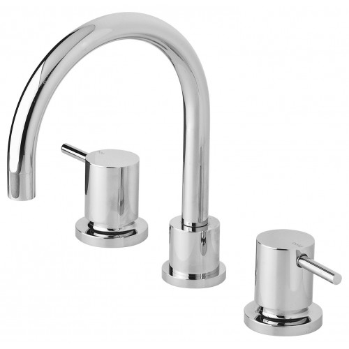 Phoenix Vivid Pin Lever Basin Set Swivel Gooseneck Outlet