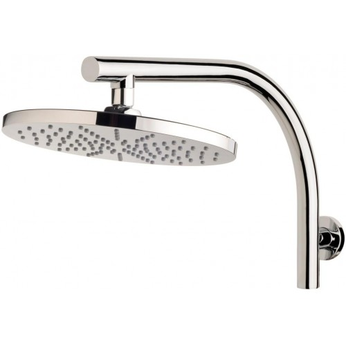 Phoenix Curved Shower Arm& 230mm Shower Rose