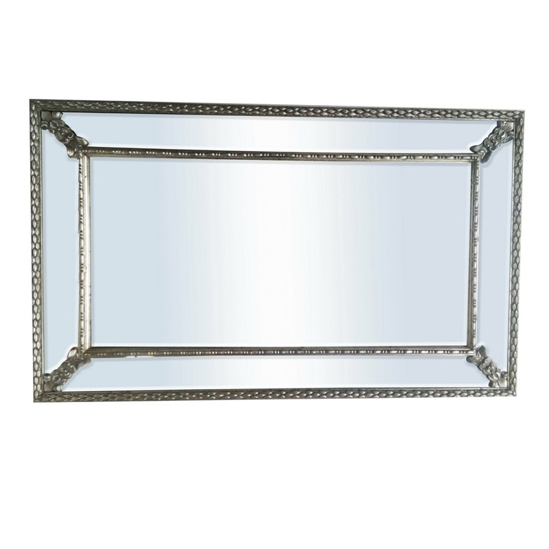 Buy antique silver charm wall mirror for Best brand of paint for kitchen cabinets with art deco wall murals