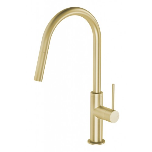 Phoenix Vivid Slimline Pull Out Sink Mixer/Brushed Gold