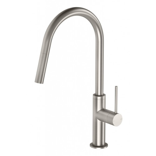 Phoenix Vivid Slimline Pull Out Sink Mixer/Brushed Nickel