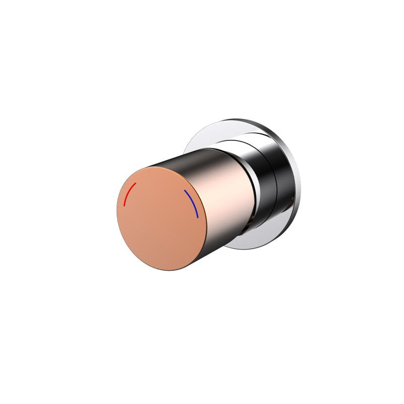 Millenium Finesa Shower Mixer Chrome & Rose Gold