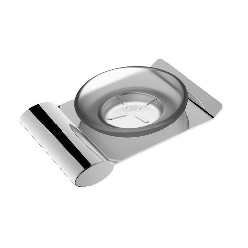 Celine Glass Soap Dish Chrome