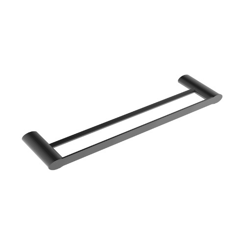 Celine Double Towel Rail 600mm Matte Black