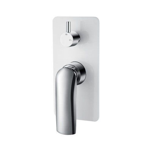 Celine Wall Mixer/Diverter White/Chrome