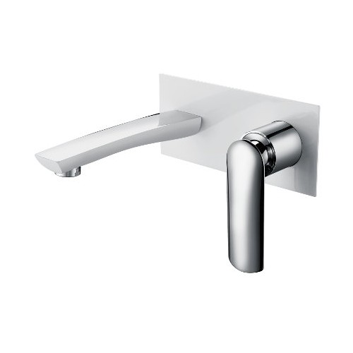 Celine Wall Basin/Bath Mixer White/Chrome
