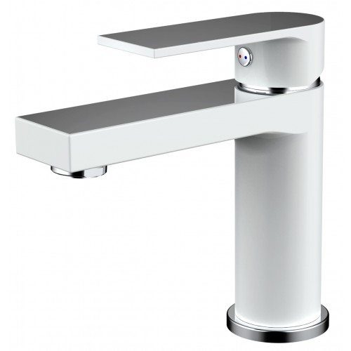 Kiato Basin Mixer White/Chrome