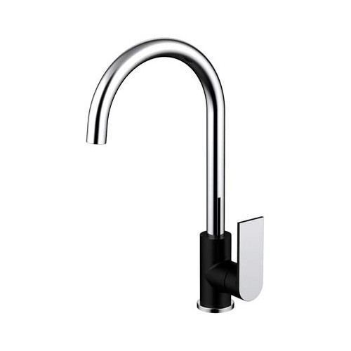 Kiato Sink Mixer Matte Black/Chrome
