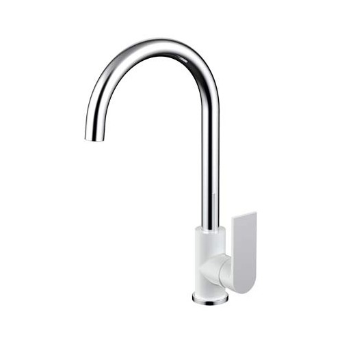 Kiato Sink Mixer White/Chrome