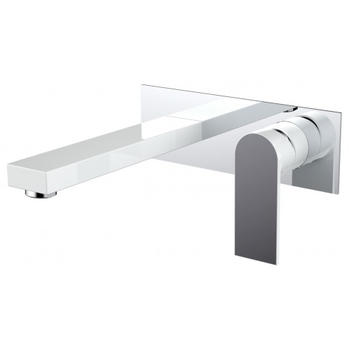 Kiato Wall Basin Mixer White/Chrome