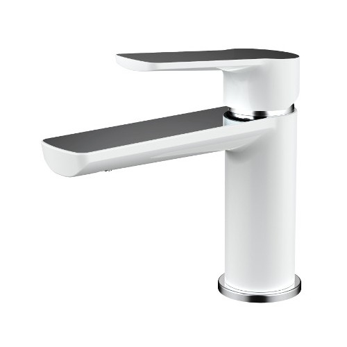 Akemi Basin Mixer White and Chrome