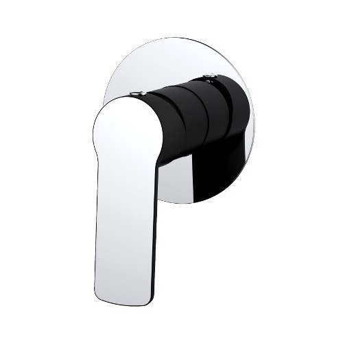 Akemi Shower Mixer Matte Black/Chrome
