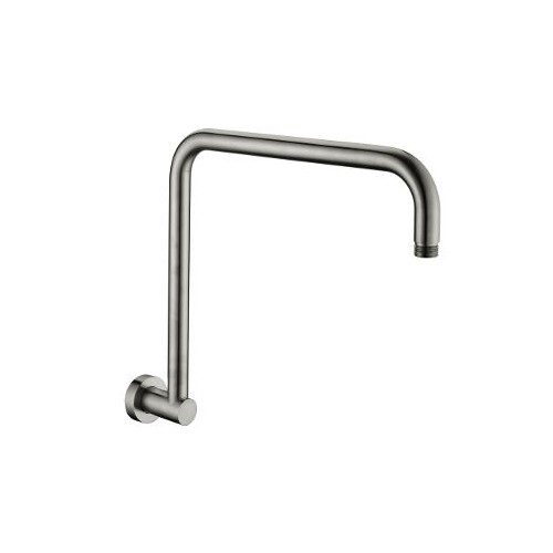 Akemi Hi Rise Shower Arm 350mm Brushed Nickel