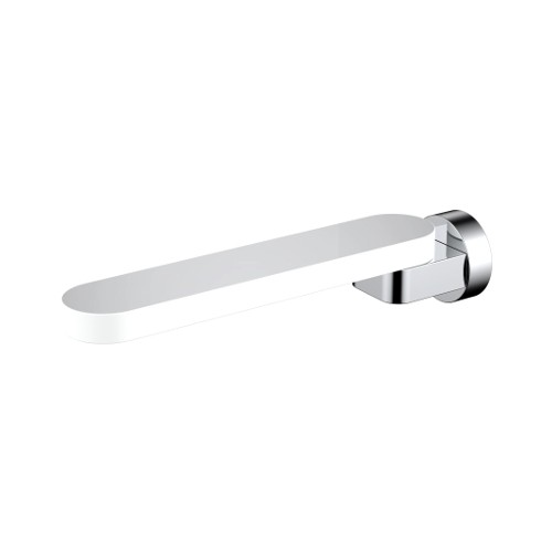 Kiato Bath Spout 180mm White/Chrome