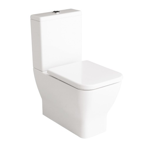Gala Emma Square Wall Faced Toilet Suite P Trap