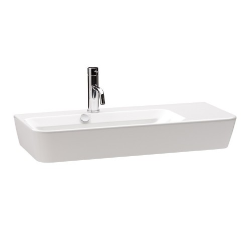 Gala Emma Square 80 Wall Basin Asymmetric Left Bowl