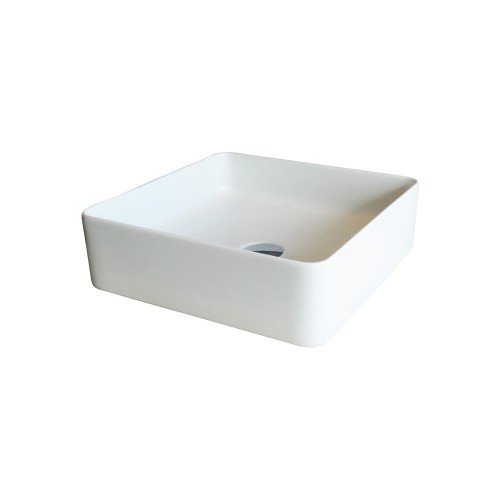 Xoni 400 Thin Square Above Counter Basin - Matte White